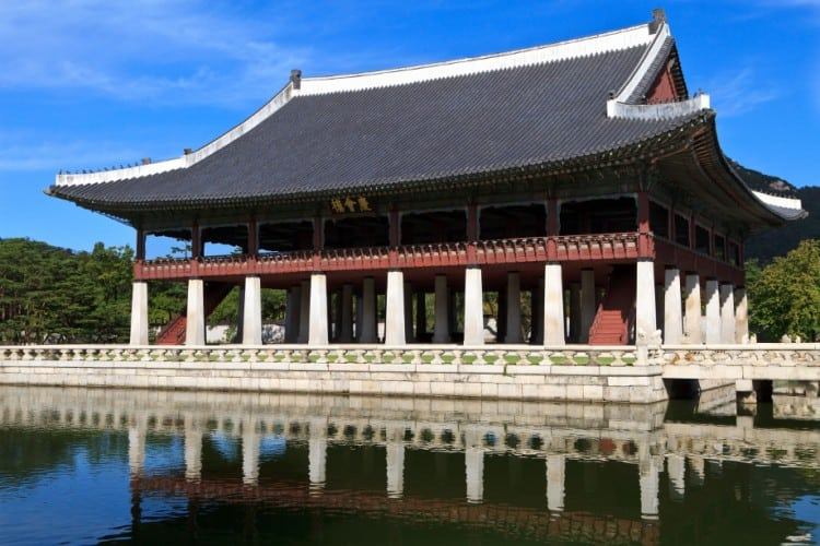 Gyeonghoeru Pavilion in Seoul, South Korea