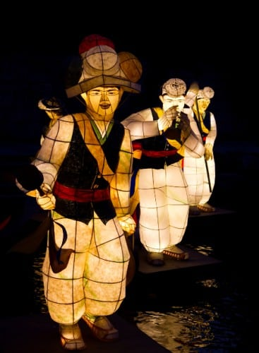 Korean Male Lanterns in the Cheonggye  Stream,
