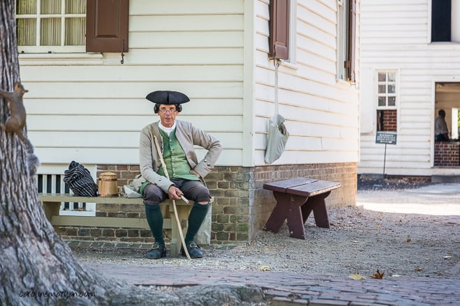 Colonial gentleman sitting and resting.
