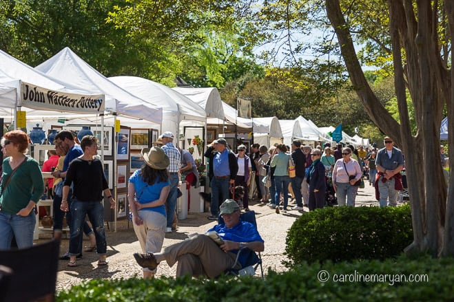 A view of some of the booths at Art of the Square in Williamsburg, VA.