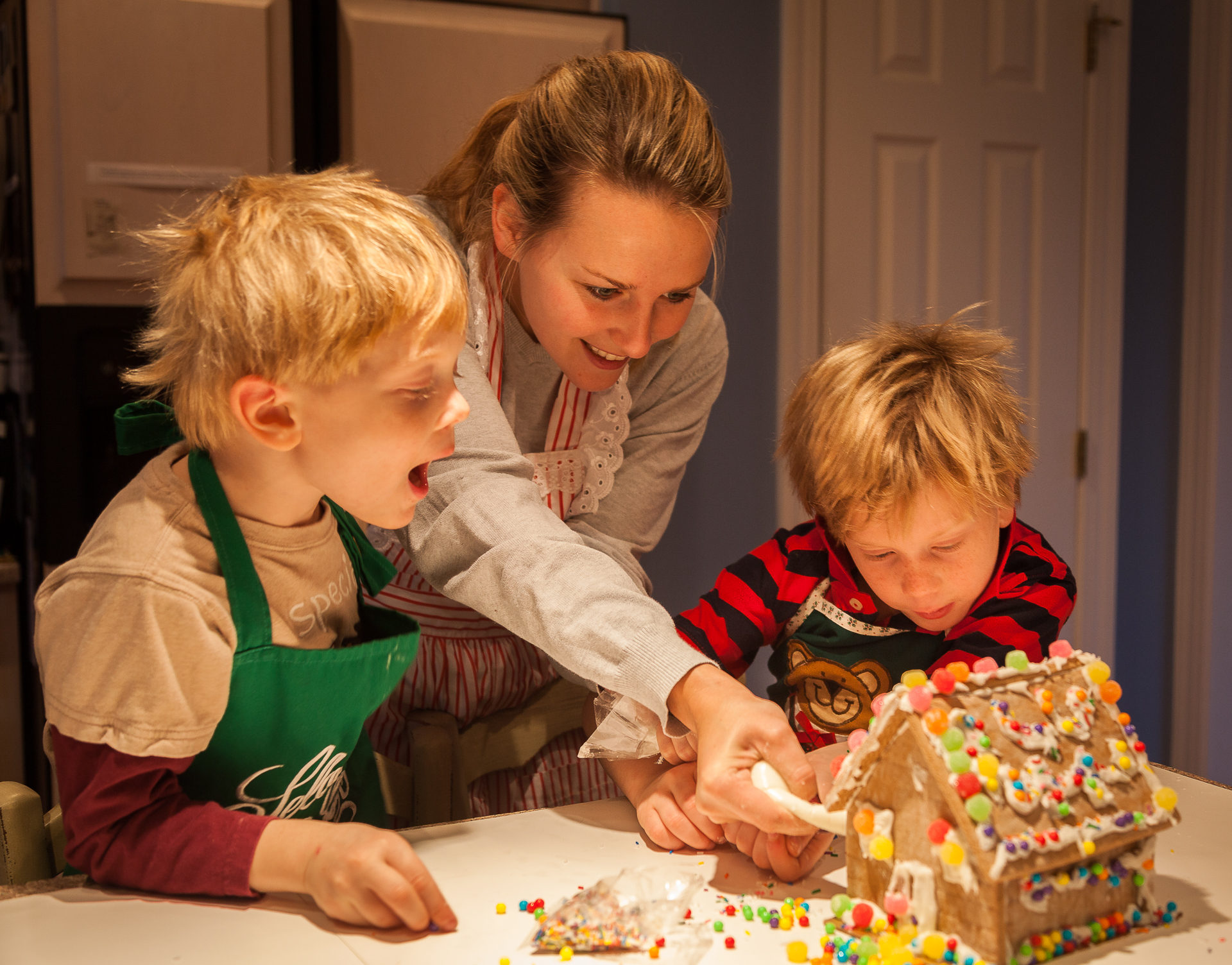 Making the Gingerbread House