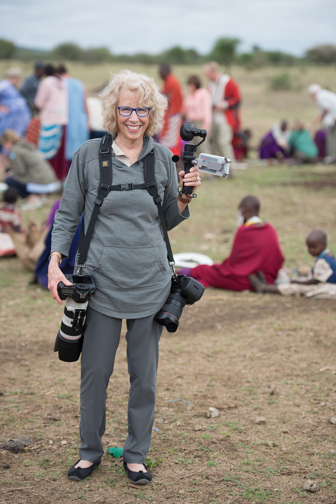 Caroline Maryan in a Masai Village