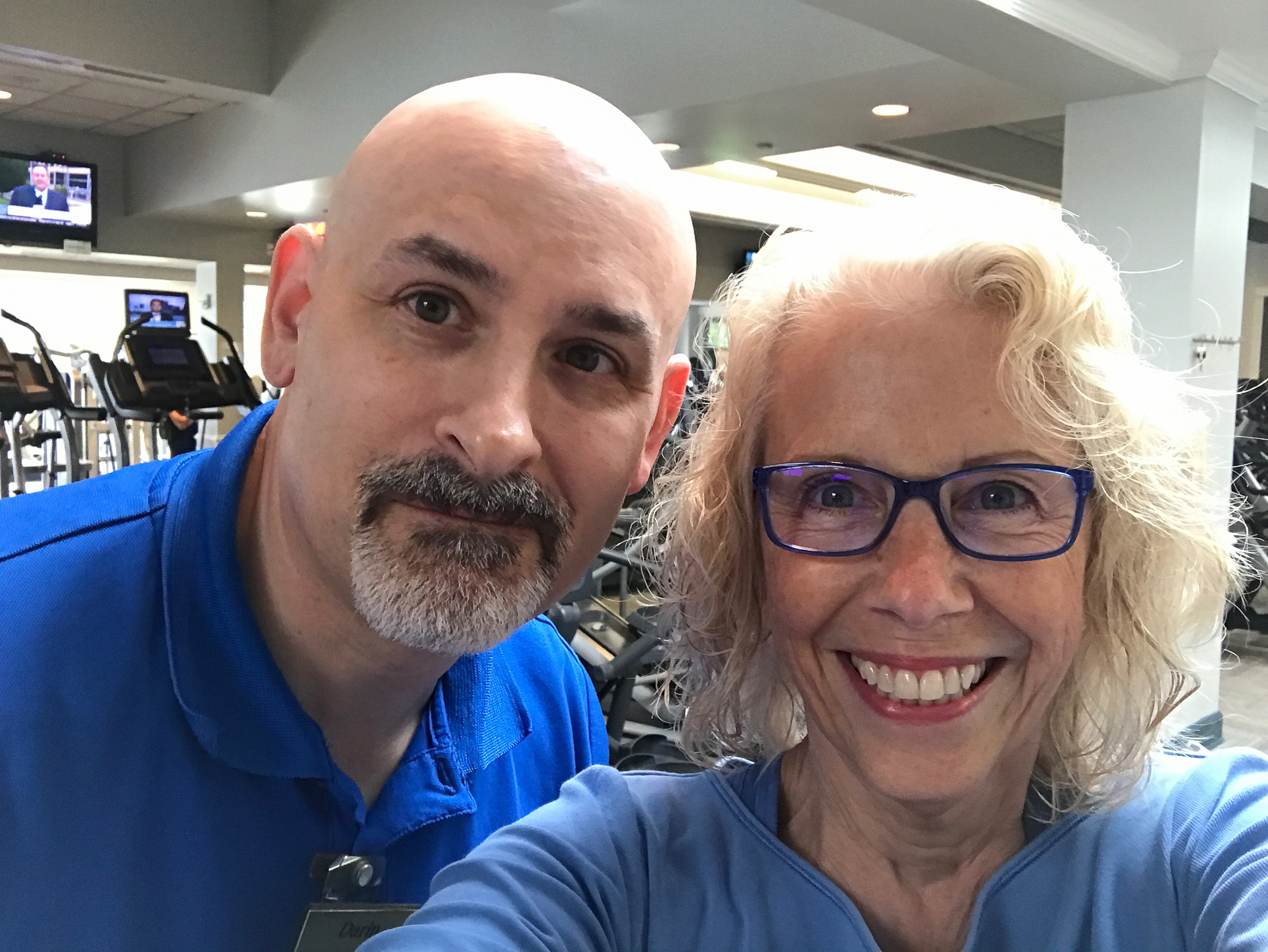 Darin and Caroline in the Gym