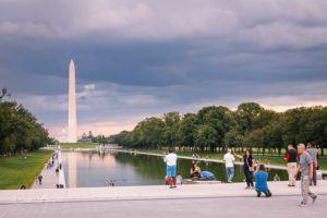 The Reflecting Pool and Washington Monument at Dusk