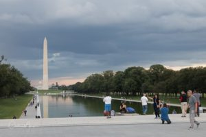 The Reflecting Pool and Washington Monument at Dusk before proce