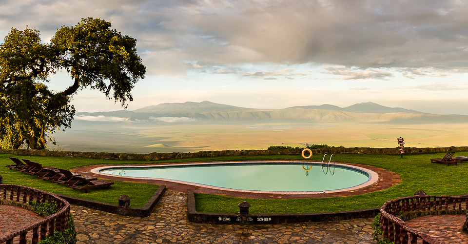 Ngorongoro Crater From the Sopa Lodge in Tanzania