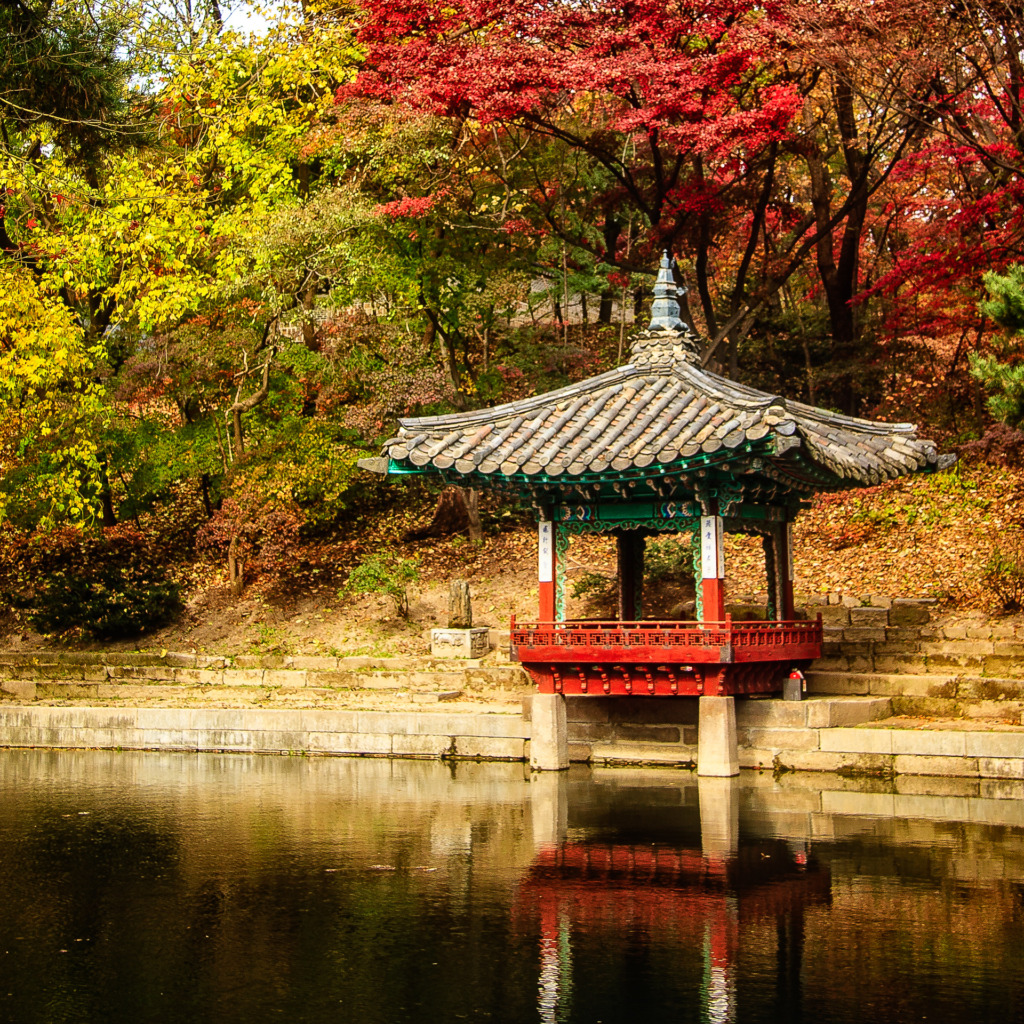 The Aeryeonjeong Pavilion, in the Huwon Secret Garden of the Changdeokgung Palace, in Seoul, South Korea.