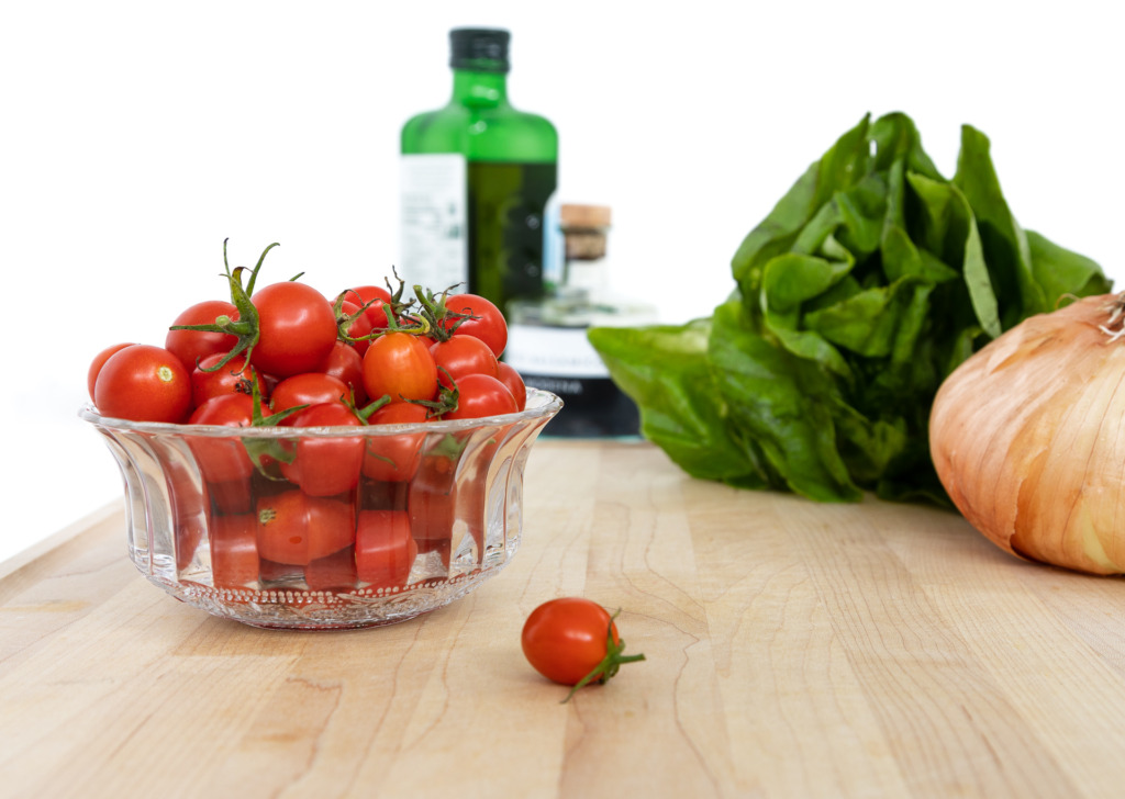 A plain background of white poster board can create a better food photo