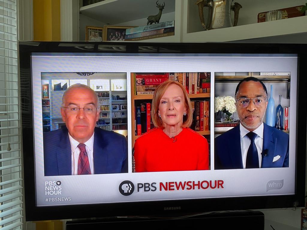 TV Screen Shot of the PBS NewsHour