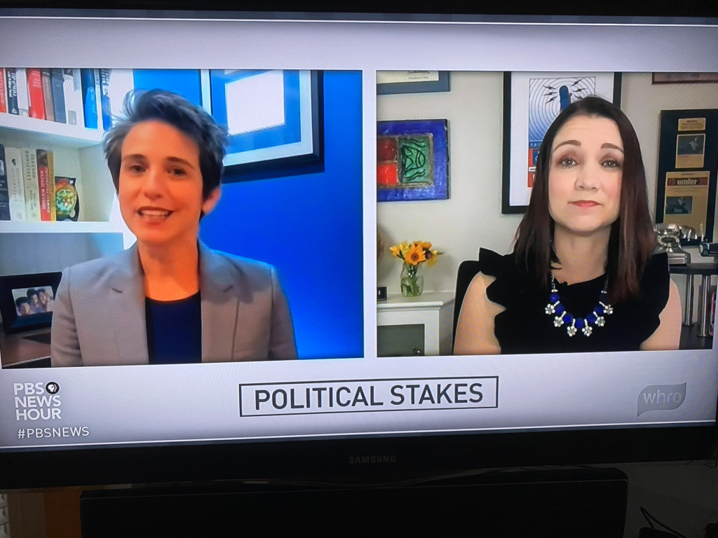 TV Screen Shot of Amy Walter and Tamara Keith on the PBS NewsHour
