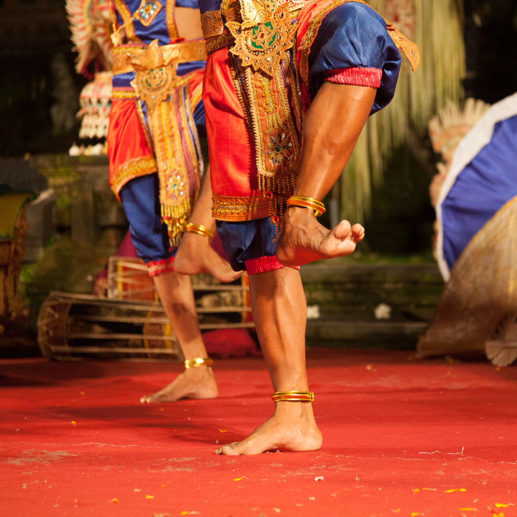 Balinese Dancer Feet captured at the peak of action