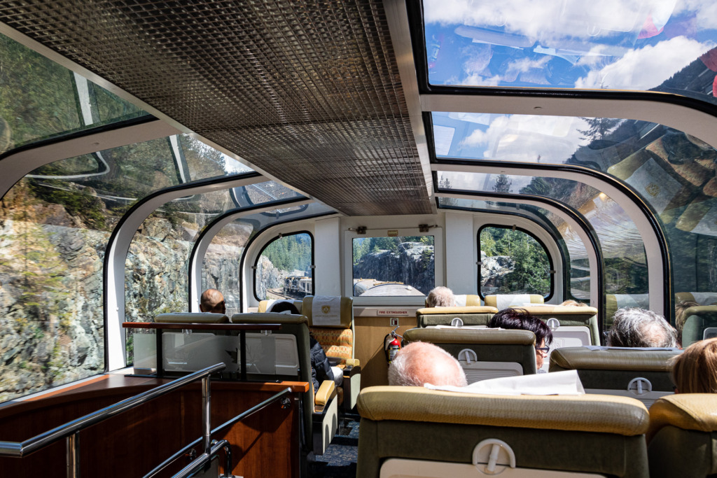 riding the Rocky Mountaineer