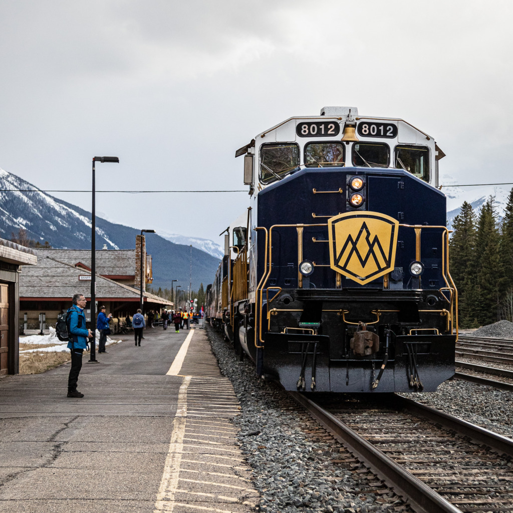 The Rocky Mountaineer in Banff