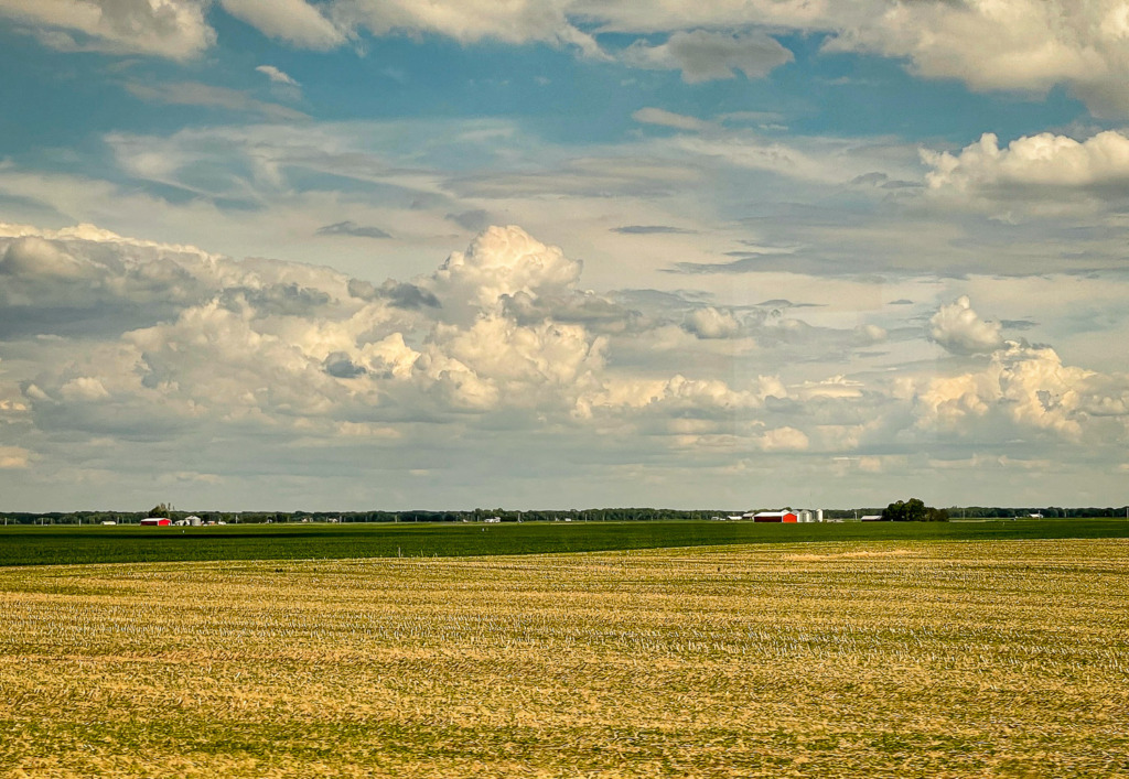 Flat Farmland in Illinois