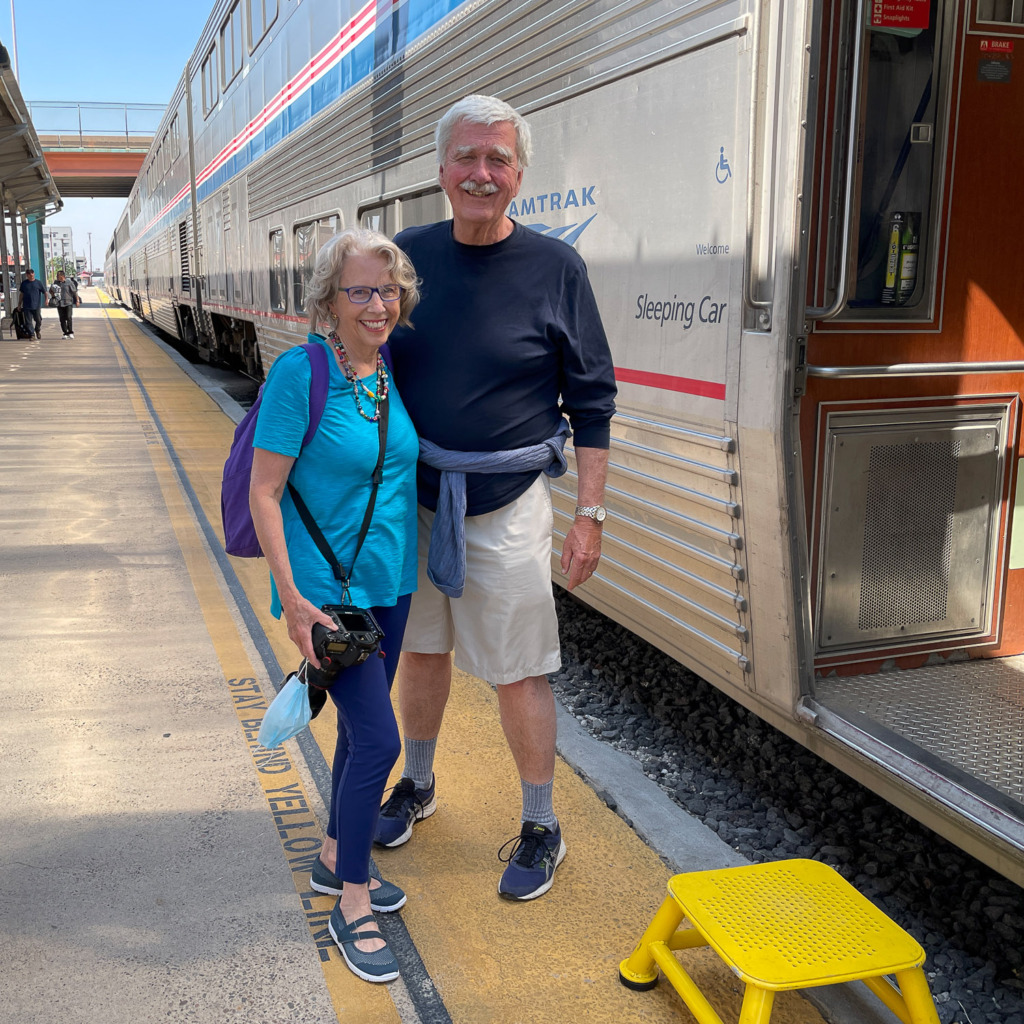 you can travel in a sleeping car when you ride Amtrak
