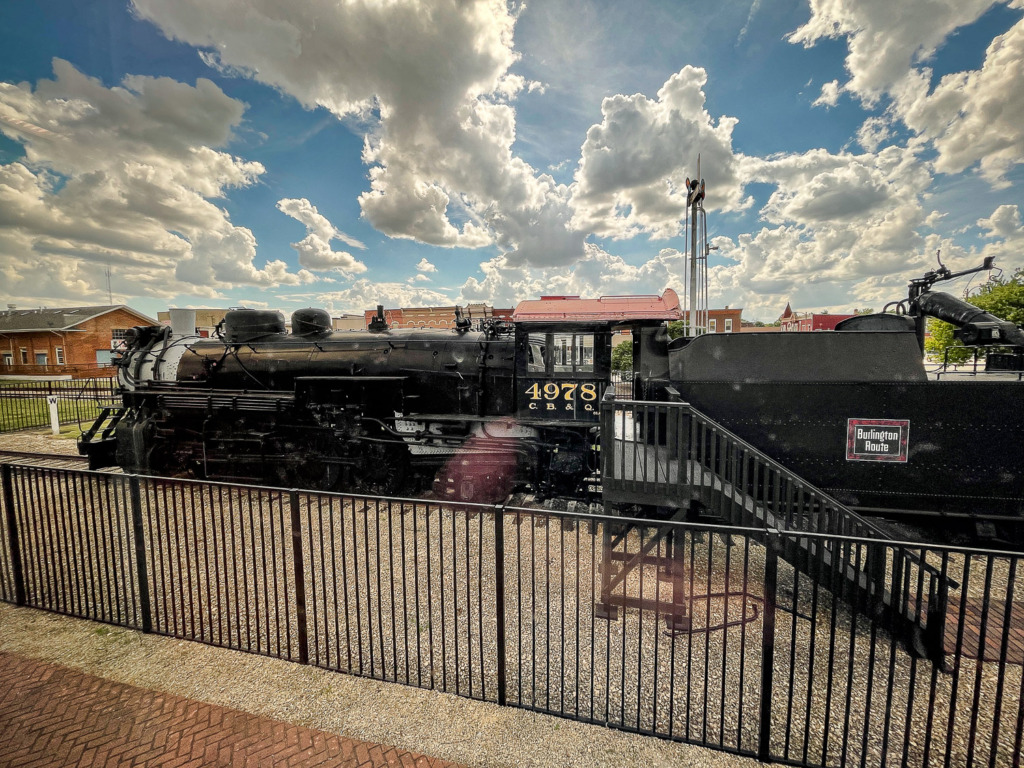 When you ride Amtrak, you may see old locomotives parked at the stations.
