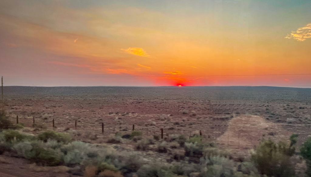 Sunrises are beautiful when you ride Amtrak.