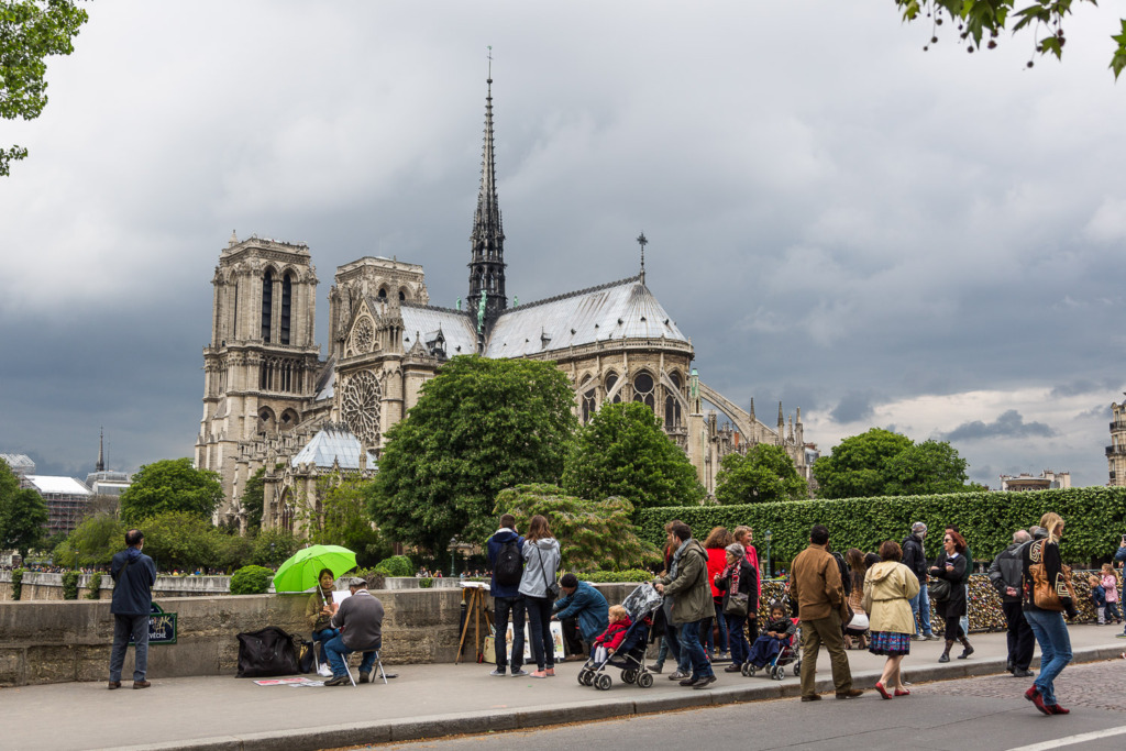 Notre Dame on a Sunday afternoon